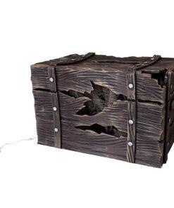 Halloween Decoratie - Lier - piraten - schatkist - kapotte kist - kloppende schatkist - lichtgevende kist - kloppend geluid