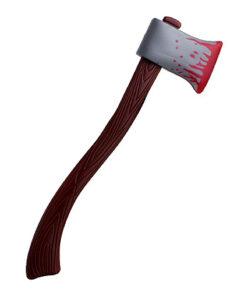 Halloween decoratie - Lier - bloed - horror - versiering - decoratie - plastic - killer - hout look - hakbijl - wapen