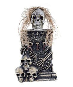 Halloween Decoratie - Lier - wanddecoratie - skeletten - grafzerken - RIP - doodshoofden - kerkhof - lichtgevende ogen