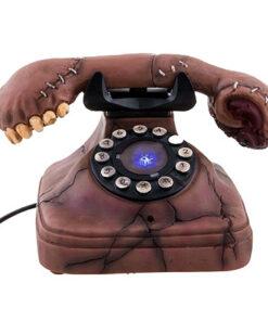 Halloween Decoratie - Lier - tafeldecoratie - rinkelende telefoon - sprekende decoratie - skelet - griezelig