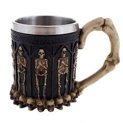 Halloween accessoires - Lier - decoratie - versiering - koffiebeker - mok - tas - geraamte - beenderen - bones - thermomok - kopje