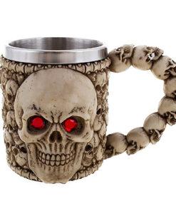 Halloween accessoires - Lier - decoratie - versiering - koffiebeker - mok - tas - schedels - skull - thermomok - kopje
