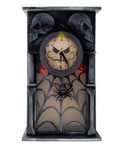 Halloween Decoratie - Lier - tafeldecoratie - klok - sprekende klok - bewegende klok - enge klok