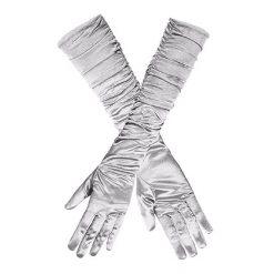 Handschoenen Ruffle Zilver