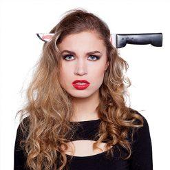 Halloween accessoires - Lier - horror - steekmes - dolk - film - knife - wapen - haaraccessoire - carnaval - special effect