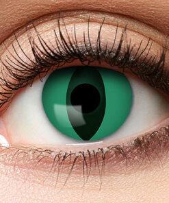 Lier - Carnaval - Halloween - contactlenzen - kleurlens - party lens - gekleurde lenzen - kattenoog - slangenoog - eye - groen