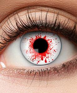 Lier - Carnaval - Halloween - contactlenzen - kleurlenzen - gekleurde lenzen - bloedend oog - bloedspatten