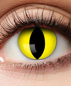 Lier - Carnaval - Halloween - contactlenzen - kleurlens - party lens - gekleurde lenzen - kattenoog - slangenoog - gele kleurlenzen