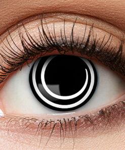 Lier - Carnaval - Halloween - contactlenzen - kleurlens - party lens - gekleurde lenzen - zwart oog - black eye - spiraal - swirl