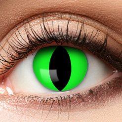 Lier - Carnaval - Halloween - contactlenzen - kleurlens - party lens - gekleurde lenzen - kattenoog - slangenoog - neon fluo