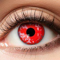 Lier - Carnaval - Halloween - contactlenzen - kleurlens - gekleurde lenzen - party lens - bloemen - rood oog - red eyes