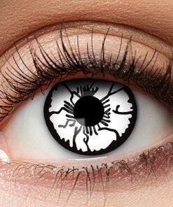 Lier - Carnaval - Halloween - contactlenzen - kleurlens - party lens - gekleurde lenzen - witte ogen - white eyes - geest - zombie