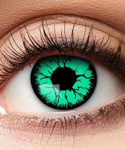 Lier - Carnaval - Halloween - contactlenzen - kleurlens - gekleurde lenzen - party lens - groen oog - green eyes - griezel