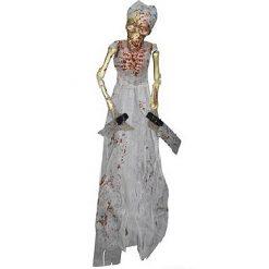 Halloween Decoratie - Lier - wanddecoratie - skelet - geraamte - hangend skelet - bloederig geraamte - griezel