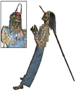 Halloween Decoratie - Lier - staande griezel - spies - drietand - vork - enge pop - horror - riek