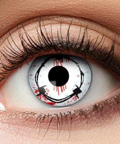 Lier - Carnaval - Halloween - contactlenzen - kleurlens - gekleurde lenzen - party lens - prikkeldraad - bloed oog - zombie - voodoo