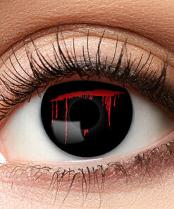 Lier - Carnaval - Halloween - contactlenzen - kleurlens - party lens - gekleurde lenzen - snee - snede in oog - kras - bloed