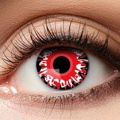 Lier - Carnaval - Halloween - contactlenzen - kleurlens - gekleurde lenzen - party lens - rood oog - vulkaan - bloedend oog