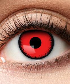 Lier - Carnaval - Halloween - contactlenzen - kleurlens - gekleurde lenzen - party lens - rode ogen - red eyes - kamping kitsch