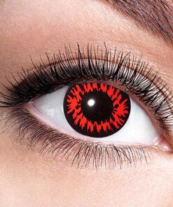 Lier - Carnaval - Halloween - contactlenzen - kleurlens - gekleurde lenzen - party lens - weerwolf - werewolf - rode ogen