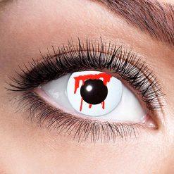 Lier - Carnaval - Halloween - contactlenzen - kleurlens - gekleurde lenzen - party lens - snee - wonde - bloedend oog