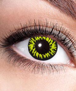 Lier - Carnaval - Halloween - contactlenzen - kleurlens - party lens - gekleurde lenzen - weerwolf - gele ogen - zwarte ogen