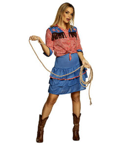Lier - Verkleedkledij volwassenen - verkleedkostuum - western - cowboy hemd - koeprint - cowgirl - rok - cowboyhoed - saloon