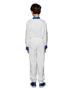 Carnaval kostuum kind - Lier - beroep - verkleedkledij kinderen - ruimte - planeten - witte overall - onesie - astronautenpak