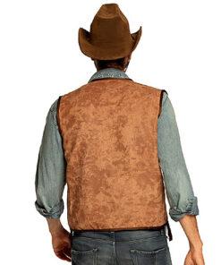 Lier - Verkleedkledij volwassenen - verkleedkostuum - western - cowboy vest - koeprint - chaps - cowboyhoed - saloon - sheriff