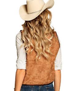 Lier - Verkleedkledij volwassenen - verkleedkostuum - western - cowboy vest - koeprint - cowgirl - chaps - cowboyhoed - saloon - dame