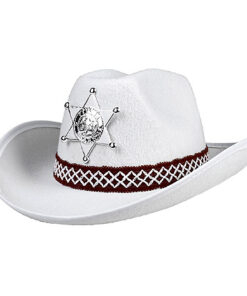 Lier - Carnaval - Western - cowboys - cowgirl - hoed - themafeest - western hoofddeksel - volwassenen - kinderen - wit