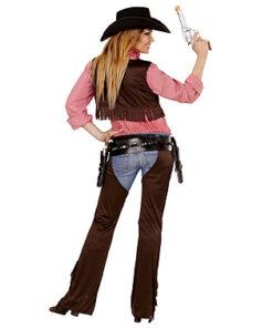 Lier - Verkleedkledij volwassenen - verkleedkostuum - western - cowboy hemd - koeprint - cowgirl - chaps - cowboyhoed - saloon - dame