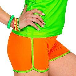 Lier - jaren 80 - 80's - jaren 90 - i love the 90's - kamping kitsch - Fun-Shop - foute party - Fluo dag - oranje korte broek