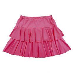 80's Rokje Ruffles Roze