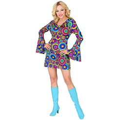 70's Jurk Bubbles Blue