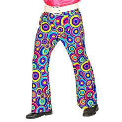 70's Broek Man Bubbles Blue