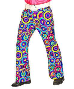 Lier - jaren 70 - 70's - olifantenpijpen - gekleurde broek - disco - groovy - Fun-Shop - puntkragen - retro - studio 54