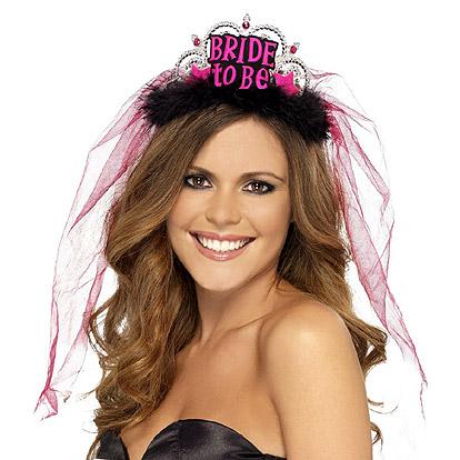 Kroon Bride To Be Zwart/Roze
