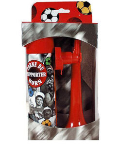 Lier - toeter - stadiontoeter - gasbus - voetbalhoorn - luchthoorn - supporteren - voetbal - rode duivels - fanartikelen