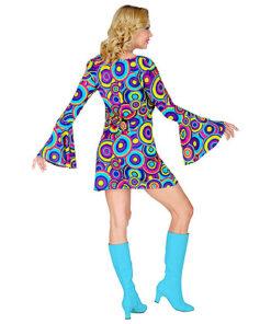 Lier - jaren 70 - 70's - brede mouwen - disco - groovy - Fun-Shop - retro - studio 54 - hippie - kleedje - flower power