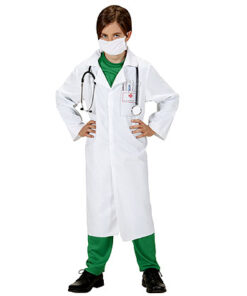 Carnaval kostuum kind - Lier - beroep - dokter - mondmasker - chirurg - laboratorium - witte jas - verkleedkledij kinderen