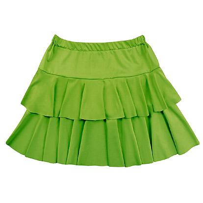 80's Rokje Ruffles Groen