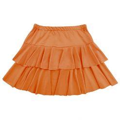 80's Rokje Ruffles Oranje