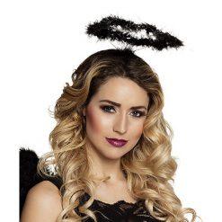 Lier - Halloween - accessoire - engelen kroon - engel - angel - carnaval - demonen - angels - marabou - kind - volwassenen