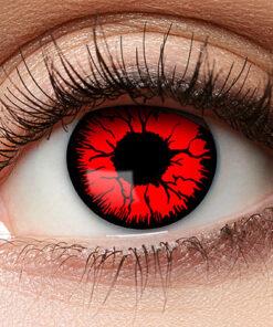 Lier - Carnaval - Halloween - contactlenzen - kleurlens - gekleurde lenzen - party lens - rood oog - red eyes - bloedend oog