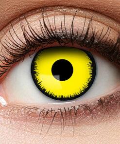 Lier - Carnaval - Halloween - contactlenzen - kleurlens - gekleurde lenzen - party lens - gele ogen - yellow eyes - kamping kitsch