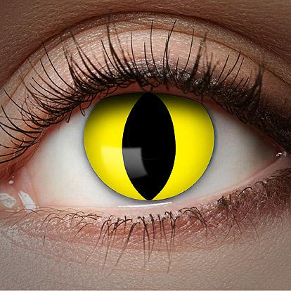 1-Maand Kleurlenzen UV Yellow Cat