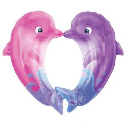 Ballonnen - Lier - feestversiering - Fun-Shop - helium - folie ballon - dolphin - zee - sea - beach - dieren - dolfijn