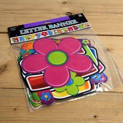 Lier - Verjaardag - hippie - flower power - letterslinger - feestversiering - jaren 60 - hawai - themafeest - jarig - decoratie
