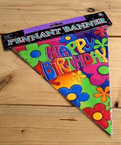 Lier - Verjaardag - hippie - flower power - vlaggetjes - feestversiering - jaren 60 - hawai - themafeest - jarig - decoratie